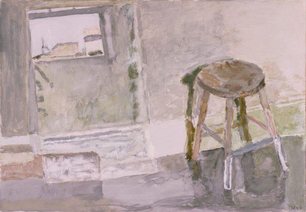 Glass + stool 2